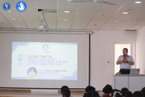 Đ/c Trần Minh Sơn đang triển khai, quán triệt Nghị quyết Đại hội đại biểu Hội Sinh viên Việt Nam TP. Hồ Chí Minh lần thứ VI
